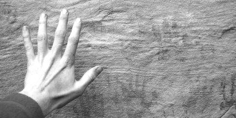 Referenzen - Hand auf der Wand
