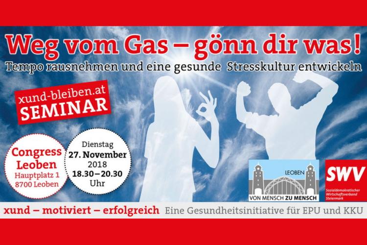 Weg vom gas - goenn dir was! von Sozialdemokratischer Wirtschaftsverband zum Thema Stress durch Elektrosmog